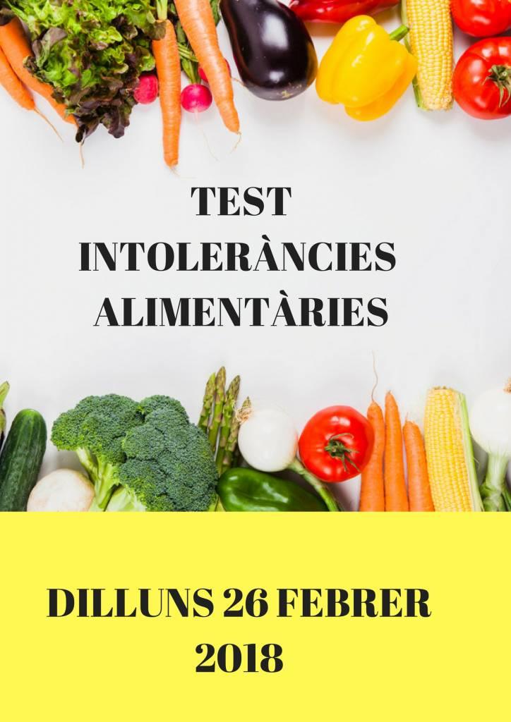 TEST INTOLERÀNCIES ALIMENTÀRIES
